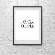 ON SALE I love coffee Print Art Print Print by ModernHouseBoutique