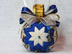 Quilted Christmas Tool Ornament no sew beige by KCFabricOrnaments, $15.00