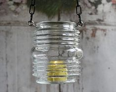 SALE - 20% off glass candle holders repurposed