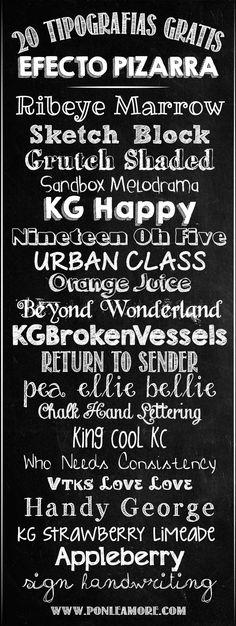 Resultado de imagem para tipós de letras Tipografia Pinterest - paredes con letras