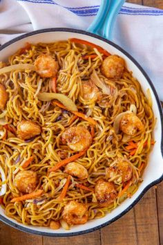 Shrimp Chow Mein is a homemade version of your favorite take-out dish, made with shrimp, veggies, and chow mein noodles in a savory sauce, ready in under 30 minutes! Healthy Chinese Recipes, Asian Recipes, Mexican Food Recipes, Healthy Recipes, Healthy Food, Shrimp Lo Mein Recipe, Shrimp Chow Mein, Shellfish Recipes, Seafood Recipes