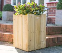Contemporary containers such as the Windsor Planter from Forest can look fabulous on patios, terraces and balconies whether planted individually or as a group. Sawn Timber, Pressure Treated Timber, Garden Site, Barrel Planter, Square Planters, Forest Garden, Garden Structures, Back Gardens, Outdoor Plants