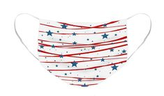 Stars & Stripes Face Mask. Available in flat or pleated design - one size fits most. #facemask #mask #starsandstripes