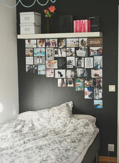 I want to redecorate my room. Put my bed against the wall, and maybe put this style of pictures above it. And the rest of my room would be very bright, and simple! Diy Room Decor, Bedroom Decor, Home Decor, Bedroom Ideas, Bedroom Wall, Wall Decor, Diy Wall, Bedroom Designs, Room Decor For Teen Girls