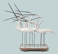 10 Egrets  by Guy Taplin at Christies.