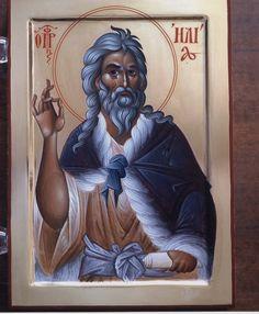 Προφήτης Ηλίας / Prophet Elias (Elijah) Religious Icons, Religious Art, Faith Of Our Fathers, Orthodox Christianity, Orthodox Icons, Jesus Christ, Religion, Painting, Saints