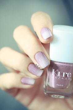 24 Delightfully Cool Ideas For Wedding Nails.....the purple ombre would match the flowers :)