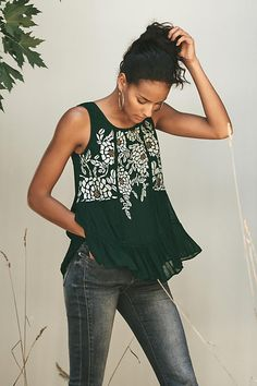 Roselle Tank | Anthropologie                                                                                                                                                                                 More