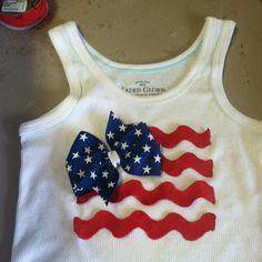 Mollys 4th of July shirt!!