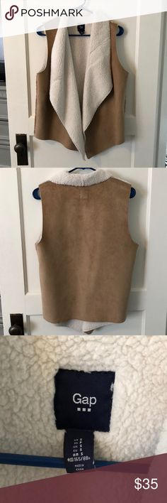 Gap cream/tan Sherpa Vest - size S Tan/camel colored Sherpa vest. Like new/worn once. GAP Jackets & Coats Vests
