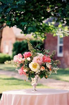 Pink Peonies, Yellow Tree Peonies, Orange Poppies