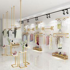 Shoe Store Design, Clothing Store Design, Women's Clothing, Fashion Store Design, Clothing Racks, Design Shop, Clothing Boutique Interior, Boutique Decor, Boutique Ideas