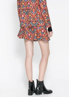 Red Fashion Floral Ruffle Mini Dress - Sheinside.com