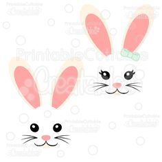 Girl & Boy Easter Bunny Face FREE SVG Cut File Set - Includes Limited Commercial Use License! Free Easter SVG Files, SVG, Cricut Explore, Cricut, Silhouette, Silhouette Cameo, Silhouette Portrait, Free SVG cuts, Eclips, Cutting Files, Make the Cut, Sure Cuts a Lot, SCaL, and other electronic craft cutting machines for scrapbooking, card making, paper crafting, and more!
