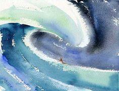 """Flying Hawaiian"" - watercolor by John Severson"