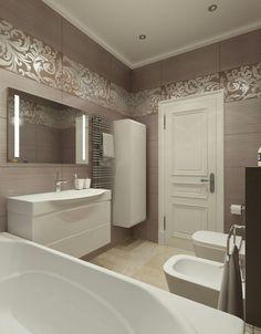 Tile border above vanity