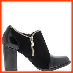 Black low boots with big heels 8.5 cm bi material - 3.5 (*Partner Link)
