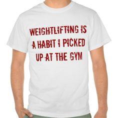 Pick Up Weightlifting Tshirt