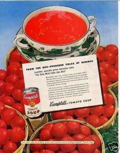 Campbell's Tomato Soup (1949)  I remember lunch time.