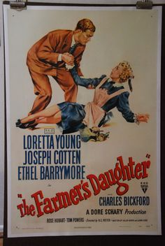 1947 Vintage Movie Posters Farmers Daughter by onlyart on Etsy