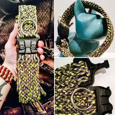 """ReadyToGear Premium Quality Wide Conquistador 550 Paracord Dog Collar: 21""""- can be sized - Genuine Polymer Cobra Buckle - dog accessories by ReadyToGear on Etsy"""