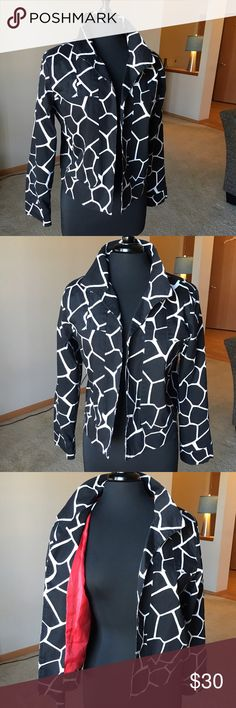 🎈Jacket Wear the wow look that comes with the classic black, white, and red combination.  Done to perfection in this blazer.  The height of sophistication. NWOT. Patricr Christopher Tops