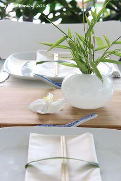 Heute ein kleines #Table Setting #flowers #asia style #decoration #Dekoration #Tischdeko #Blumen