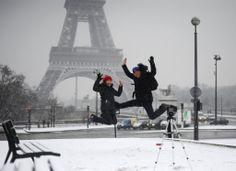 Lorsque la neige à Paris