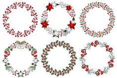 Check out Christmas Wreath Set by LoveGraphicDesign on Creative Market