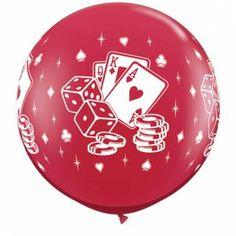 Casino Dice & Cards Ruby Red 3ft per Stuk