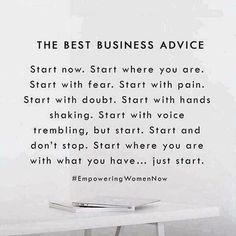 The best advice Just do it Healthy hair savings opportunity sahm Mom entrepreneur Mom boss boss babe mompreneur salon balayage ombré cut color life changing oppor. Motivacional Quotes, Babe Quotes, Quotes To Live By, Dream Quotes, Famous Quotes, Small Business Quotes, Business Advice, Business Opportunities, Online Business