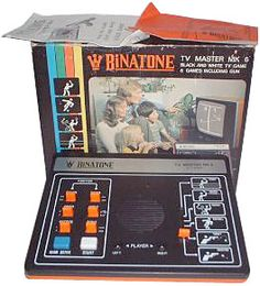 Binatone TV Master System: the Christmas my brother I got our first video game we thought it was the most hi-tech thing ever. My brother was convinced he could spin the ball if he hit it right in the tennis game and we bought the light gun with our Xmas money at Argus.
