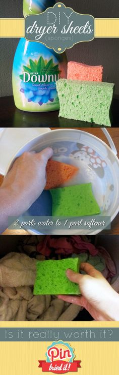Dryer-Sheet-Sponges. We use this and love it!