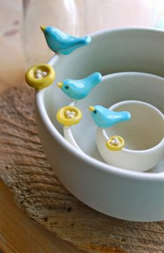 Tigelas de passarinho
