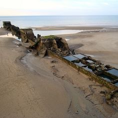 Mulberry Harbor Wreckage, Arromanches, France