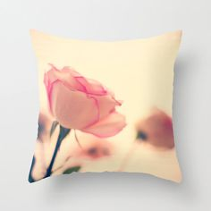 SALE Pillow cover rose pillow yellow pillow pink by Andrekart, $37.00