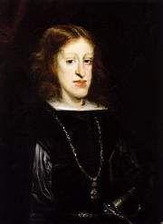 Carlo II (1661-1700) ultimo degli Asburgo di Spagna, figlio di Filippo IV e Marianna d'Austria. Re dal 1665 al 1700.