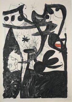 """Joan Miró """"Défile de mannequins au Pôle Nord"""" Litografía en colores Año: 1969 Dimensiones: 126 x 86,6 cm Tirada de 75 ejemplares Numerada y firmada a mano Certificada por la Fundació Joan Miró Mourlot 634 Precio: Consultar web Web: www.grabadosylitografias.com  Más información:  galeria@grabadosylitografias.com"""