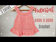 Diy Crafts - Crochet Baby Dress Available For Free!Read More. A beautiful Crochet Baby Dress that does not require professional skills, so you will Crochet Baby Dress Free Pattern, Baby Dress Patterns, Crochet Baby Clothes, Crochet Baby Hats, Baby Knitting, Crochet Patterns, Skirt Patterns, Coat Patterns, Blouse Patterns