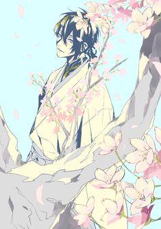 「桜と三日月」 三日月宗近