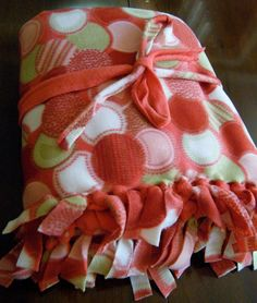 c664f9f104 No-sew fleece blanket. These make great gifts! (I use 2 yards