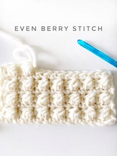 Crochet Stitch The Even Berry Stitch is a variation of a cluster stitch. Or, could be in the category of a… - The crochet Even Berry Stitch is a variation of a cluster stitch. Or, could be in the category of… Love Crochet, Single Crochet, Easy Crochet, Crochet Flowers, Crochet Stitches Patterns, Knitting Patterns, Crochet Crafts, Crochet Projects, Berry