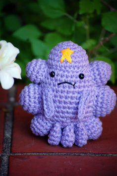 Amigurumi Lumpy Space Princess says Adventure Time is the best show ever.
