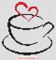 Coffee, free cross stitch patterns and charts Cross Stitching, Cross Stitch Embroidery, Embroidery Patterns, Hand Embroidery, Cross Stitch Designs, Cross Stitch Patterns, Cross Stitch Kitchen, Cross Stitch Heart, Tapestry Crochet