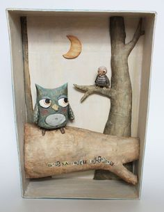 Fun paper mache project doing the whole thing in shadow box