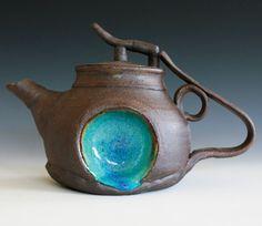 Blue Moon Jr Teapot 1 Handmade Stoneware Teapot by ocpottery on Wanelo