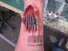 How to create cyborg prosthetics Ewww...but creepy.