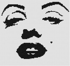 Marilyn Counted Cross Stitch Pattern by WooHooCrossStitch on Etsy, $9.00