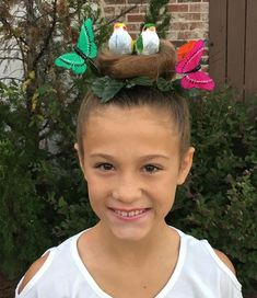 Bird's nest for crazy hair day