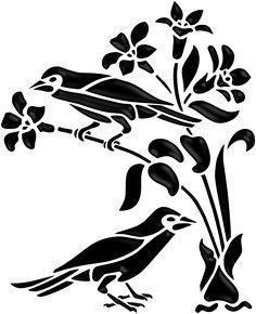 Bird silhouette design 67 New ideas Bird Stencil, Stencil Painting On Walls, Stencil Art, Stencil Designs, Wall Art Designs, Bird Silhouette Art, Silhouette Vector, Silhouette Design, Kirigami